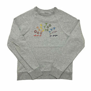Madewell Ladies Sweatshirt Light Grey Love To All Jumper Top Size S