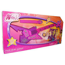 Winx Club ROCK STAR GUITAR & Strap & Guitar Pick HOT PINK GREAT Sounds❀ NEW❀