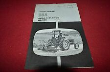 John Deere 80A Rear Mounted Blade Operator's Manual BWPA