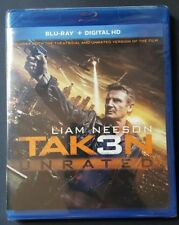 TAKEN 3 UNRATED LIAM NEESON MAGGIE GRACE NEW SEALED BLU-RAY + DIGITAL HD 2015 WS