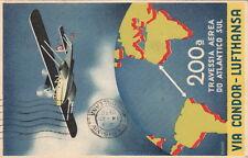 Lettre/Cover Brazil Carte Via Condor Lufthansa, Brésil pour Paris 1936