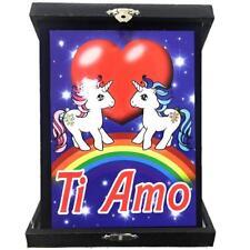 Targa Unicorni Innamorati Ti Amo Idea Regalo San Valentino PS 26433
