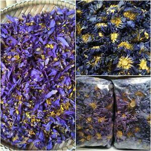 Organic Natural BLUE LOTUS Nymphaea Caerulea Dried Flower Herbal pouch 25g -100g