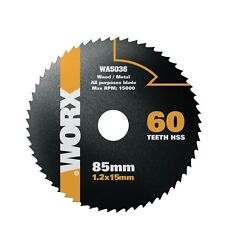 WORX WORXSAW 85mm, 60 Tooth HSS Blade