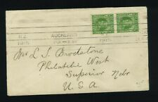New Zealand Cover 1915 KEVII to USA