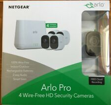 NETGEAR ARLO PRO 4 WIRE FREE CAMERAS VMS4430-100AUS ( 4 CAMERAS INCLUDED)
