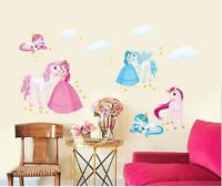Removable Wall Sticker Unicorn Decal For Kids Nursery Baby Room home decor Girls