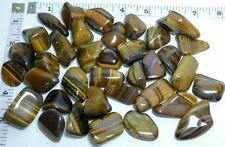 GOLD TIGER EYE Polshed tumble stone rock craft heal 6 stones golden tiger's eye