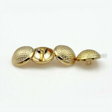 12pcs Gold Metal Round Shank Buttons for Coat Suit Embellishment Sewing 18mm