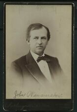 Vintage Postmaster: John Wanamaker Department Store Cabinet Card Photo c. 1890s