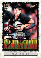 ✺Signed✺ 2000 PENRITH PANTHERS NRL Card RYAN GIRDLER