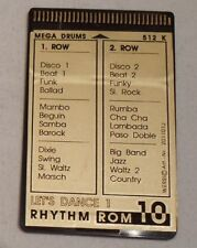 "Wersi Memory Card ROM 10 Rhythm ""LET´S DANCE 1"" für CD Orgeln"