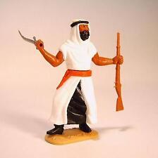 Timpo Toys Araber weiß/schwarz mit Krummsäbel und Gewehr Version 3
