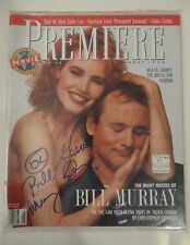 BILL MURRAY GEENA DAVIS SIGNED AUTOGRAPH PREMIERE MAGAZINE AUG 1990 QUICK CHANGE
