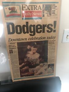 LOS ANGELES DODGERS World Series Champion Los Angeles Daily News Paper