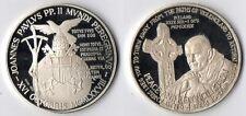 Medaglia Argento 925 Joannes Paulus PP. II Ireland 1979 Fondo Specchio