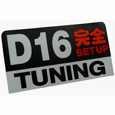 D16 engine Setup Tuning racing 3M JDM stickers decals dash car commuter v-tec