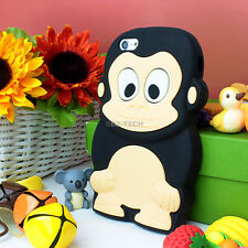 For Apple iPhone 5C Colorful 3D Cute Monkey Silicone Gel Skin Phone Case Cover