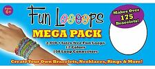 Fun Loooops Loops Mega Pack Make Over 175 Bracelets, Necklaces+ Cra-Z-Loom NEW
