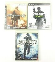 Call of Duty: Modern Warfare 2, MW3, World At War (PlayStation 3) Lot