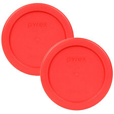 "Pyrex 4"" Plastic Red Lid Replacement Cover 2 Pack For 1 Cup Bowl Dish 7202-PC"