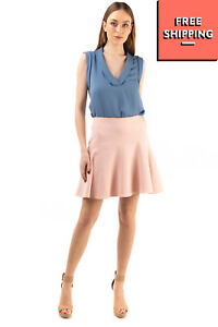 RRP €200 NATAN EDITION 5 Short Flare Skirt Size 36 / S Fully Lined Zip Back
