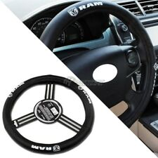 GENUINE Pilot Automotive Dodge RAM Black Leather Genuine Steering Wheel Cover