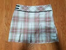 Izod Women'S Brown And Pink/Red Plaid Golf Skirt/Shorts/Skort Size 2