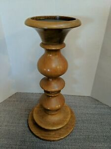 Pottery Barn Wooden Taper Candle Holder