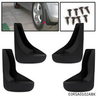 4 Mud Flaps Universal Splash Guards fits Many for Front & Rear Includes Hardware