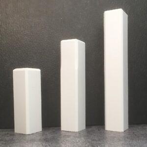 2,99€/Stk Eckstab, Eckturm, 65, 95 oder 125 mm, für Sockelleisten, weiß lackiert