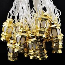 Golden Lantern 20 LED String Lights Ramadan Celebration Plug-In Indoor Home Deco