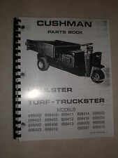 Cushman Truckster, Haulster, Turf Truckster Parts Book for Many Different Models