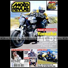 MOTO REVUE N°3640 YAMAHA MT-01 YZR M1 HARLEY 1130 V-ROD SUZUKI DL 1000 V-STROM