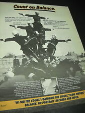 BALANCE 1982 Promo Display Ad COUNT ON BALANCE - IN FOR THE COUNT horse balance