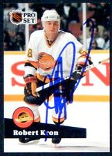 Robert Kron Vancouver Canucks 1991-92 Pro Set ProSet Signed Card