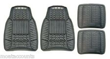 Universal Rubber Car Mat Set [MS98016] Michelin Ruber 4pc Mats - Black
