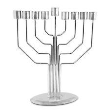 Metal MENORAH ~ ~ ~ ~ jewish chanukah judaica hanukka gift art decor pipe style