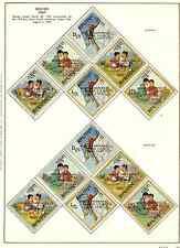 BHUTAN 1967 BOY SCOUTS ON STAMPS SCOTT 89-89E & 86-86E & 4 SOUVENIR SHEETS MINT