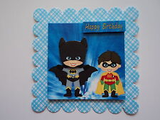 PK 2 Batman e Robin decorazioni per Abbellimenti per le schede / ARTIGIANATO