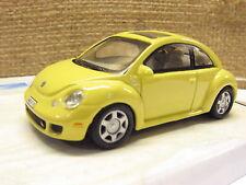 Cararama 171BND VW Beetle New Beetle  2 Door Yellow -1/72 Scale New Boxed