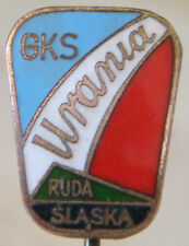 GKS URANIA RUDA SLASKA Vintage Club crest badge Stick pin fitting 12mm x 16mm