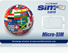 Micro SIM card - Works in the USA and 220 Countries - Includes $20.00 Credit