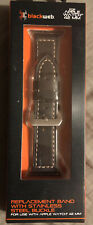 Apple Watch 42 MM Blackweb Replacement Band - Dark Brown Leather  BRAND NEW