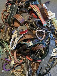 Leather Bracelet Lot 190+ Pieces Almost 7 Lbs Various Bohemian Jewelry Styles