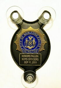 Honors Fallen NYPD officers Sep 11, Salute our Heroes police car shield-FOP-PBA