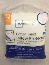 (BJ) Mainstays Cotton Blend 2-Pack S/Q Pillow Covers White Queen