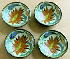 More details for miniature mini gouda pots plates decorative floral pattern set 4 - free post uk