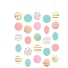 Pastel Hanging Circle Decorations 5 Pack