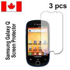 Three (3) Clear screen protectors for Samsung Galaxy Q T589 T589R Free Shipping